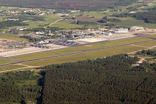 Аэропорт Рига сверху