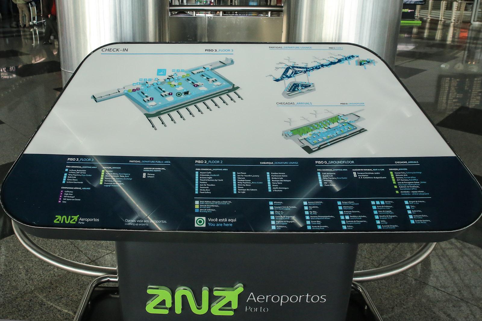 Схема аэропорта Порту