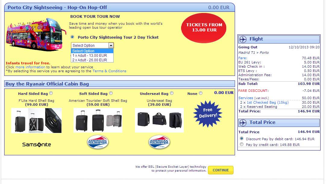 Бронирование авиабилета на сайте авиакомпании Ryanair