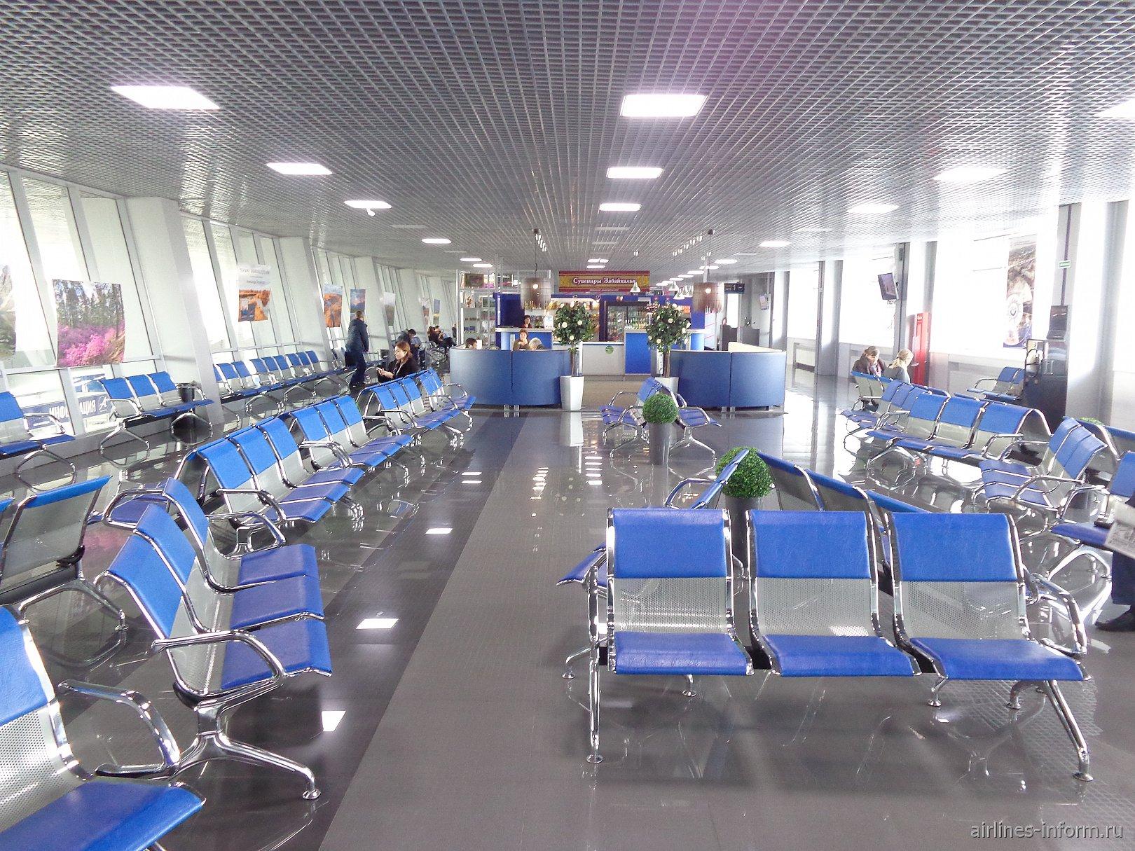 Зал ожидания чистой зоны аэропорта Кадала города Чита