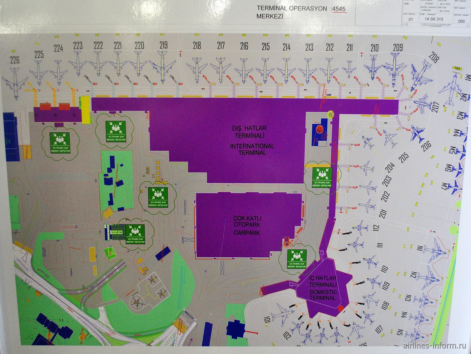 Схема аэропорт стамбула ататюрк терминал i