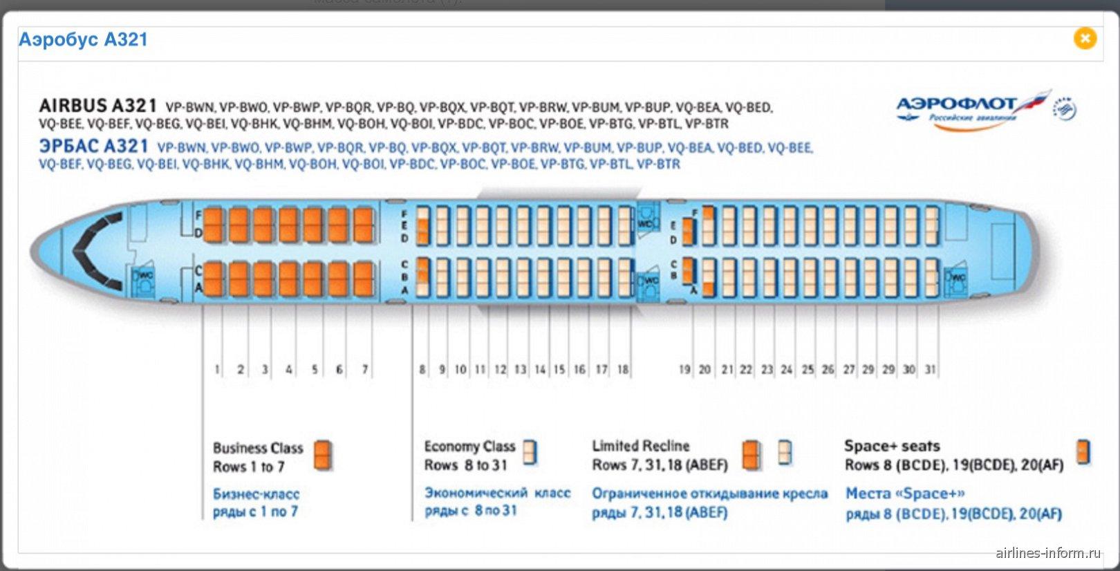 А-321 самолет схема северный ветер