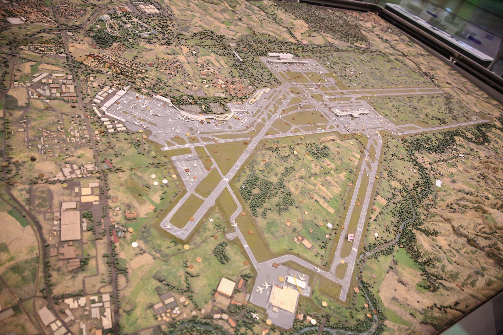Макет аэропорта Барахас в Мадриде