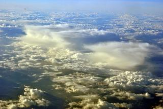 Beautiful clouds over France