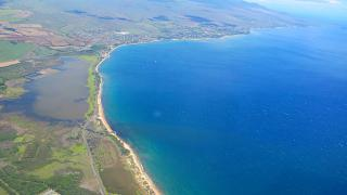 The coast of the Hawaiian island of Maui