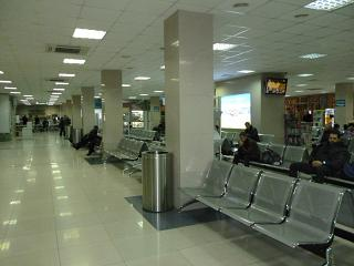 The waiting room in a sterile area of the airport of Khabarovsk
