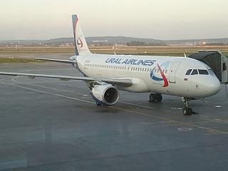 Airbus A320 of Ural airlines at Koltsovo airport