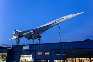 Aircraft Concorde in the Museum of technology in Sinsheim