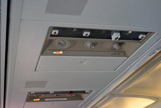 The panel over the passenger seat in Boeing-737-400