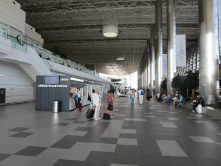 At the arrival of the new terminal of the Simferopol airport