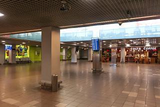 Arrivals area at Riga Airport