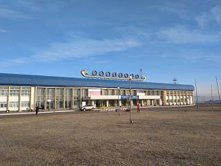 The passenger terminal of the airport of Ulan-Ude Baikal
