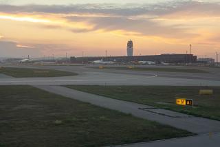 Аэропорт Вена Швехат на закате