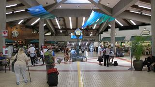 In a clean area Kahului airport