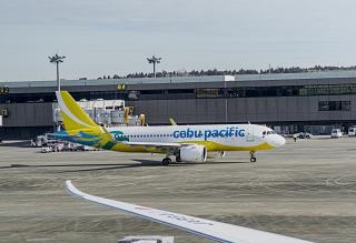 Самолет Airbus A320 авиакомпании Cebu Pacific в аэропорту Токио Нарита