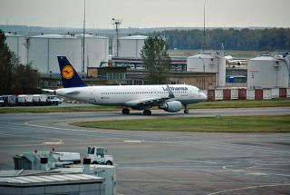 Airbus A320 from Lufthansa at the airport Domodedovo