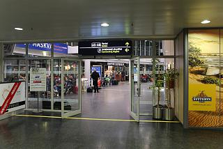 Hall transfer passengers at the airport of Vilnius