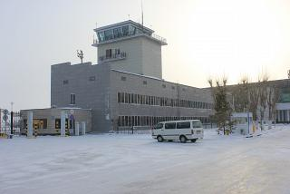 The old control tower of the airport of Astana