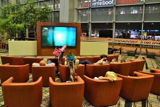Waiting room in terminal 3 of Singapore Changi airport