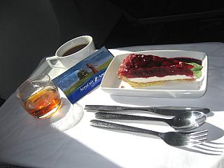 Food business class on the flight Kiev - new York by AeroSvit airlines