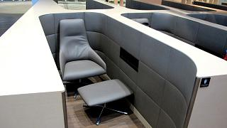 Место для отдыха в зоне Narita Sky Lounge в терминале 2 аэропорта Токио Нарита