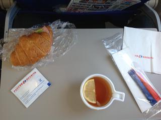 Питание на рейсе Одесса-Санкт-Петербург авиакомпании