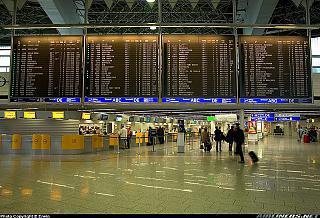 Стойки регистрации в аэропорту Франкфурта