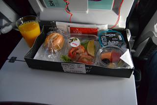Завтрак на рейсе Стамбул-Львов Турецких авиалиний