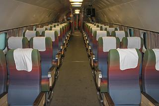 The passenger cabin of aircraft Lockheed L-1049G Super Constellation