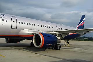 Самолет Airbus A321 Аэрофлота в аэропорту Сочи