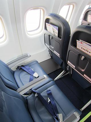 The passenger seats in the plane ATR of 72 airlines Malindo Air
