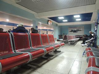 The area on the second floor of the terminal building of the airport of Barnaul