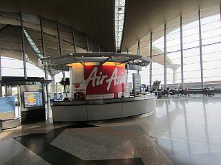 The airline AirAsia at the airport of Kuala Lumpur