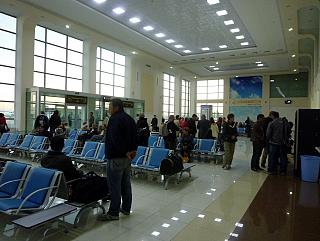 The waiting hall of Tashkent airport South