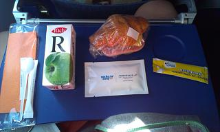 The food on Turkish airlines SPB-Moscow
