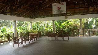 The waiting room at the airport of Praslin