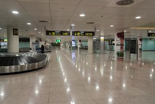 The baggage claim hall in terminal 1 of Barcelona airport El Prat