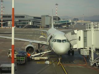 Airbus A319 авиакомпании Россия в аэропорту Милан Мальпенса