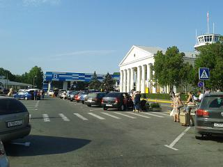 Station square of Simferopol airport
