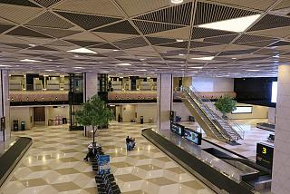 The baggage claim hall of the airport of Baku named after Heydar Aliyev