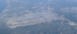 The view from the plane on the construction of the new airport of Istanbul