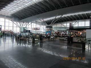 In Terminal D of Kiev Borispol airport