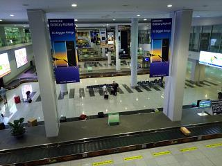 The baggage claim area at the airport Manila Ninoy Aquino international