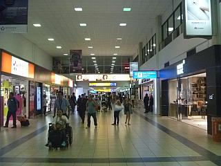 Stores in a clean area of the airport Panama Tocumen