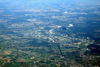 South industrial area of Genk in Belgium