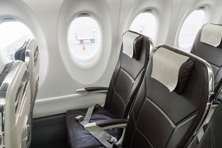 The passenger seats in the aircraft, Bombardier CS300 SWISS