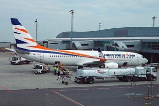 Boeing 737-800 OK-TVG of the airline Smartwings at Prague airport
