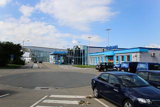 Old and new passenger terminals at the airport of Ostrava