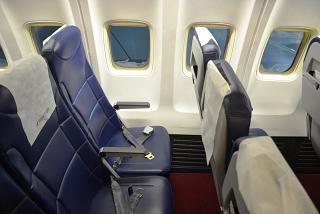 The passenger seats in the aircraft Boeing-757-200 airlines Royal Flight