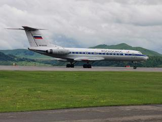 The Tu-134 of Roskosmos at the airport of Gorno-Altaysk
